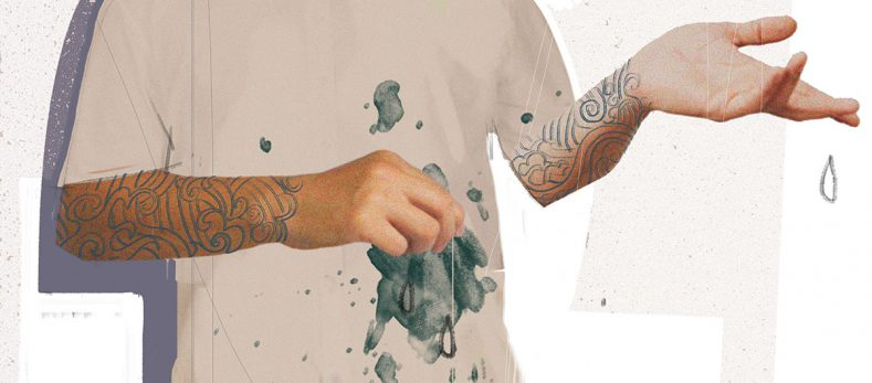 How to remove tattoo ink from clothing