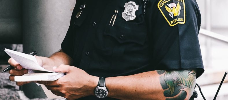 visibly tattooed police officers