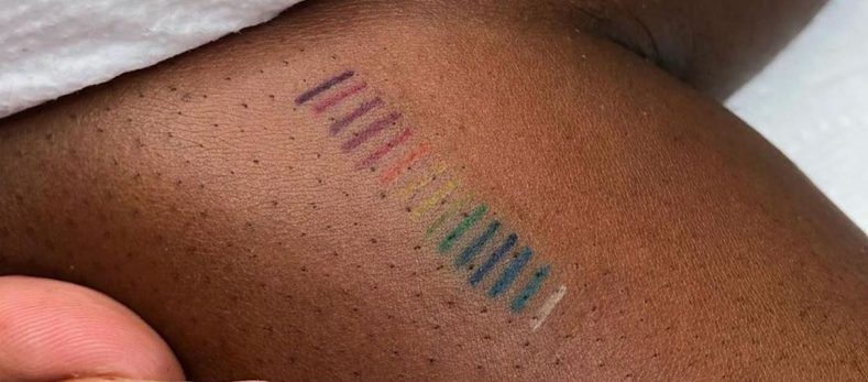tattoo color tests